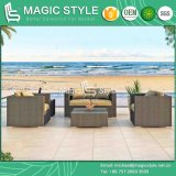 High Quality Garden Outdoor Furniture Rattan Sofa Wicker Sofa Set Promotional Patio Sofa (Magic Style)