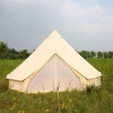 Waterproof Family Glamping Cotton Canvas Bell Tents for 5 Person