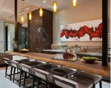 New Style Solid Wood Veneer Kitchen Cabinet Modern