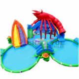Ocean Theme Inflatable Water Park with Pool for Playground