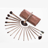 Beauty Cosmetics 18PCS Synthetic Makeup Brush Set with PU Leather