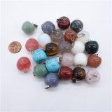 Mulit Color Natural Gem Stone Apple Shape Necklace Charms Pendants