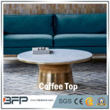 Small Round Frosted Coffee Dining Marble Table Top