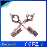 Classical Metal Heart Key Shape USB Flash Drive 8GB