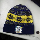 High Quality Custom Knitted Colorful Jacquard Kids Winter Beanie Hat