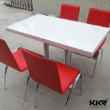 4 Person White Solid Surface Dining Table Furniture