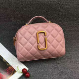 Latest Design 100% Real Leather Lady Clutch Bags Gird Leather Shoudler Bag Handbag Made in China Emg5106