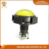 IP40 Protection Level 3A 250V Yellow Push Button Switch Pbs-006