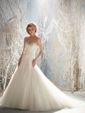 Lace on Tulle Halter Bridal Gown Bow Belt Wedding Bridal Dress
