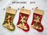 Stacking up Christmas Figurine Stocking, 3asst