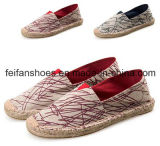 Women Flat Canvas Shoes Hemp Shoes Casual Shoes (FF123-4)