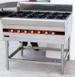 6 Burner Floor Type LPG Gas Cooking Range for Restaurant