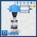 Didtek Pneumatic Stainless Steel 304 V Type Ball Valve for Refinery