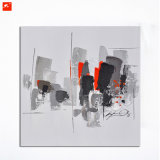 Abstract Downtown Wall Art Impressionistic Oil Painting