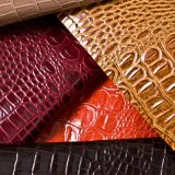 Popular Series Crocodile Leather Synthetic Leather for Bag (HST309)