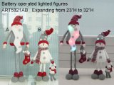 Lighted up Christmas Decoration Gift LED with Expanding Legs