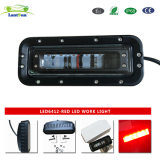 LED6412 12W 6inch Red LED Light Emergency Warning Lamp for Forklift, Heavy-Duty Machine