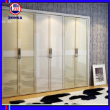 Swing Door Wardrobe with PVC + Melamine for Bedroom Furniture