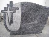 Spray White Granite Tombstone for Slovakia Market