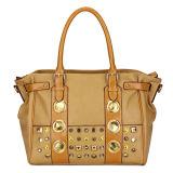 Eye-Catching Rivet Women Leather Handbag (MBNO031083)