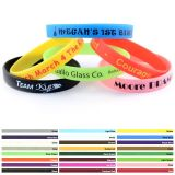 New Product Customize Silicone Bracelet with Debossed/Embossed Logo