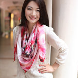 Digital Printed Silk Satin Scarf for Lady (12-BR050303-15)