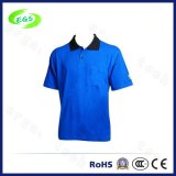 Cotton Antistatic ESD Polo T-Shirt with Short Sleeve