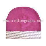 Polar Fleece Hat With Reflective Tape