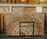 China Honey Onyx Background Wall with Wave Stripe