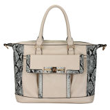 Snake Skin Branded Leather Fashion Women Bags (MBLX033098)