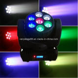 7 12W Quad RGBW LED Moving Head Beam Lighting