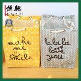 Custom Logo Printed Cotton Rope Handle Storage Shopping Bag