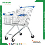 Metal European Style Supermarket Trolley Cart