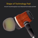 Hi-Fi Braided in-Ear Huanghauli Wood Earphone for iPhone