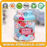 Custom Round Metal Tea Tin Can for Tea Caddy Gifts