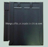 Building material Clay Flat Roof Tile 310*340mm