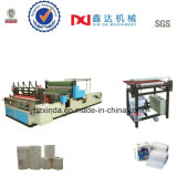 Automatic Perforated Embossing Gluing Kitchen Towle Roll Rewinder