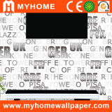 Non Woven Background Wallpaper with Letters