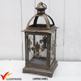 Vintage Decorative Filigree French Country Style Metal Lantern