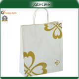 Fashion Light Weight Custom Print White Kraft Paper Bag