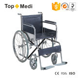 Hot Sale Cheap Handicapped Manual Steel Wheelchair