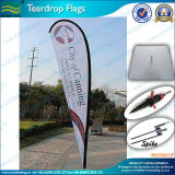 Outdoor Advertising Teardrop Banner with Ground Drill (J-NF04F06048)
