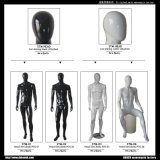 Full Body Male Glassfiber White & Black Mannequin