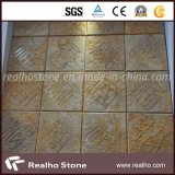Imperial Gold Marble Stone Art for Wall Decoration