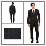 Custom Made Italian Style Striped Fabric Suit for Men