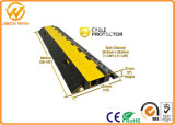 High Density Rubber Electric Wire Protector / 2 Channels Cable Protector
