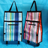 600d Foldable Shopping Trolley Bag with Wheels -- Dxb-1220t