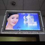 Wall Mounted LED Cream Crystal Mirror