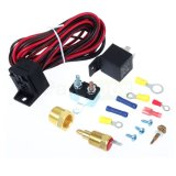 Auto Electric Fan Wire Harness Kit with Relay, Circuit Breaker, 3/8NPT Thermostat