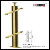 Golden Stair Railings, Railing System, Handrail Fittings, Glass Handrail (HR1364)